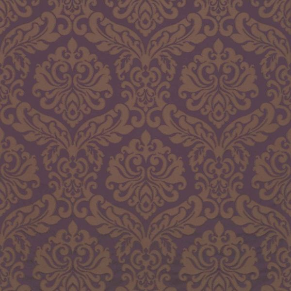 ABACUS DAMASK – BLACK CURRANT/TAUPE-0