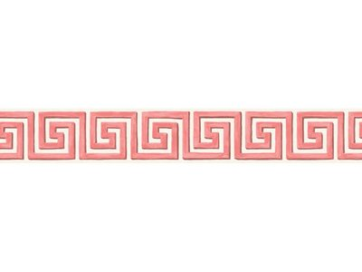 QUEENS KEY BORDER - PINK/IVORY-0