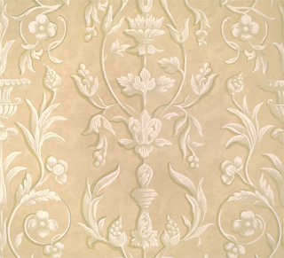 ARABESQUE - PLASTER WHITE ON BEIGE FRESCO-0