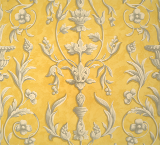 ARABESQUE - GREYS ON YELLOW FRESCO-0